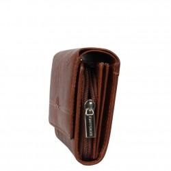 Porte monnaie en cuir végétal rabat vintage Tony Perotti V303 Tony PEROTTI - 3