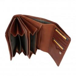 Porte monnaie billets cuir végétal à rabat vintage Tony Perotti V303 Tony PEROTTI - 2