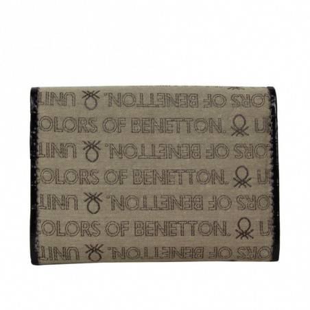 Neuf avec petits défauts portefeuille cartes ultra plat Benetton Toile 67680 A DÉCOUVRIR ! - 2