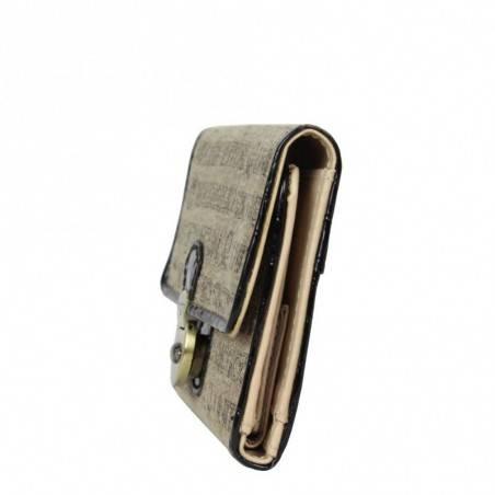 Neuf avec petits défauts portefeuille cartes ultra plat Benetton Toile 67680 A DÉCOUVRIR ! - 3