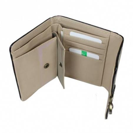 Neuf avec petits défauts portefeuille cartes ultra plat Benetton Toile 67680 A DÉCOUVRIR ! - 4