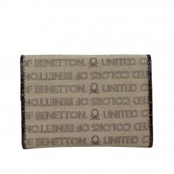 Portefeuille cartes ultra plat Benetton Toile 67680 A DÉCOUVRIR ! - 2