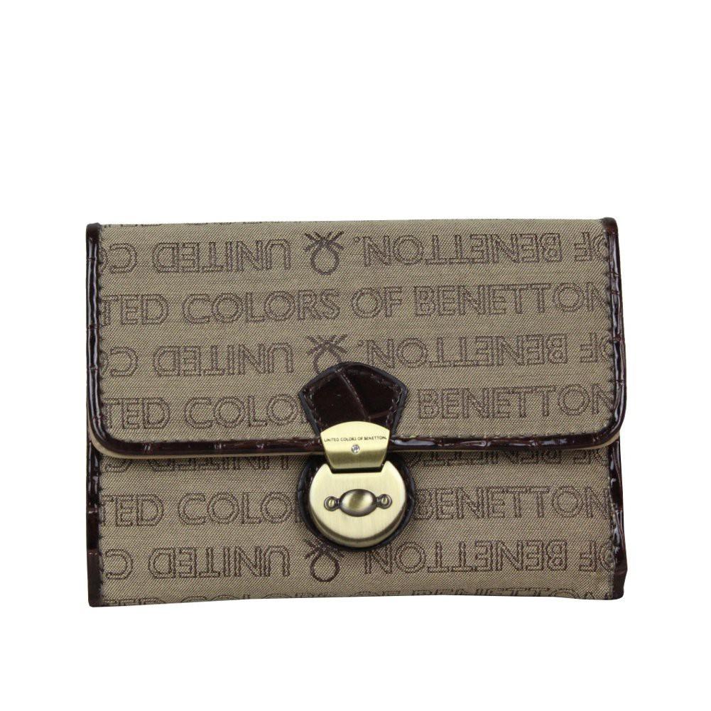 Portefeuille cartes ultra plat Benetton Toile 67680 A DÉCOUVRIR ! - 1
