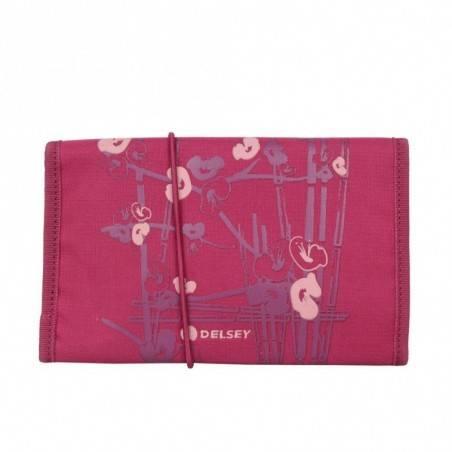 Trousse Delsey toile aménagé fleurs japonaises plumier plat  DELSEY - 2