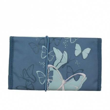 Trousse Delsey toile aménagé 0344174 12 papillon plumier plat  DELSEY - 2