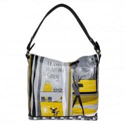 Sac seau Texier jaune imprimé motif 19905 TEXIER - 1