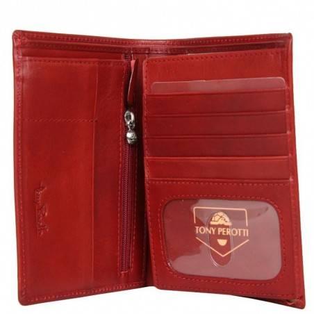 Petit portefeuille porte monnaie et porte cartes cuir vintage Tony Perotti Tony PEROTTI - 2