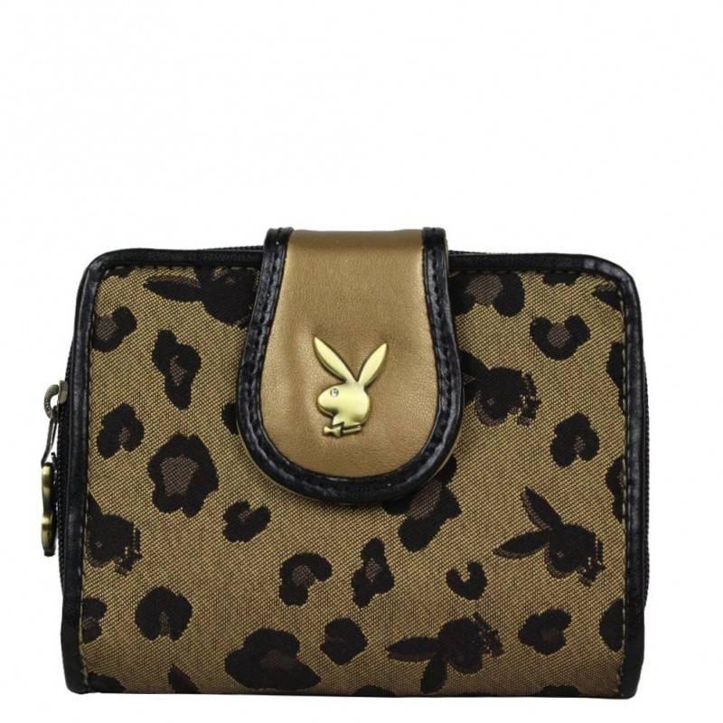 Porte monnaie motif léopard Playboy PA2527 PLAYBOY - 1