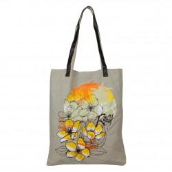 Sac tote bag toile motif Roxy barefeet QLWBA232 ROXY - 1