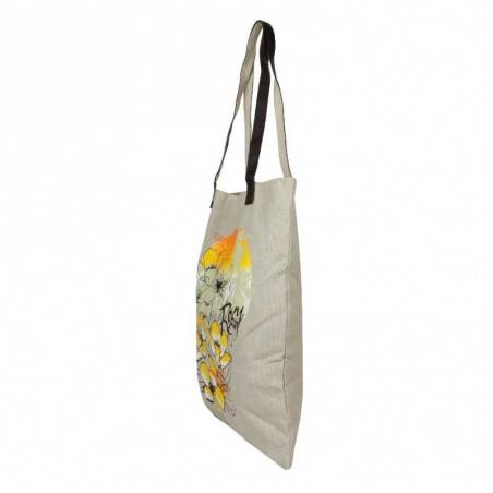 Sac tote bag toile motif Roxy barefeet QLWBA232 ROXY - 3