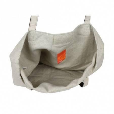 Sac tote bag toile motif Roxy barefeet QLWBA232 ROXY - 2