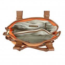 Sac épaule toile Patrick Blanc 8021-02 Orange PATRICK BLANC - 3
