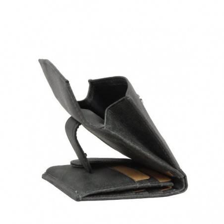 Porte monnaie + porte cartes billets cuir vieilli Safari Lounge SAFARI - 3
