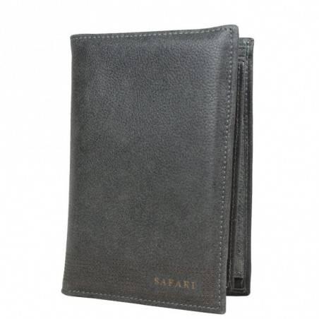 Grand portefeuille en cuir vieilli Safari SFL062 SAFARI - 1