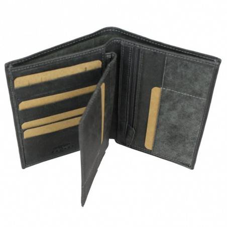 Grand portefeuille en cuir vieilli Safari SFL062 SAFARI - 2