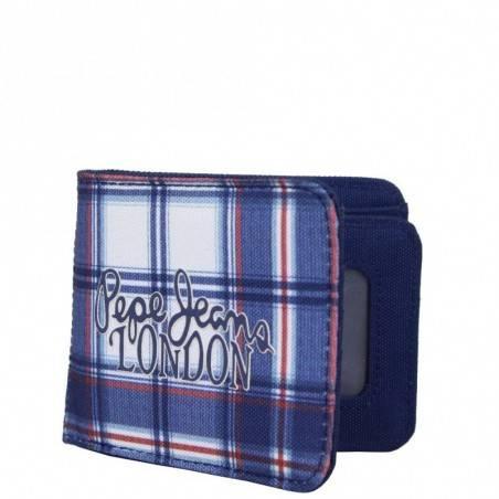 Petit portefeuille monnaie toile Pepe Jeans bleu 1268201 Pepe Jeans - 1