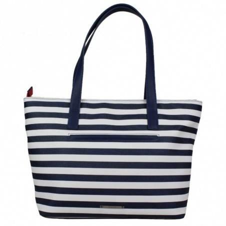 Sac à main épaule shopping marine et blanc de marque Elle Matelot Tote ELLE - 2