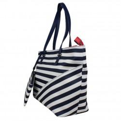 Sac à main épaule shopping marine et blanc de marque Elle Matelot Tote ELLE - 3