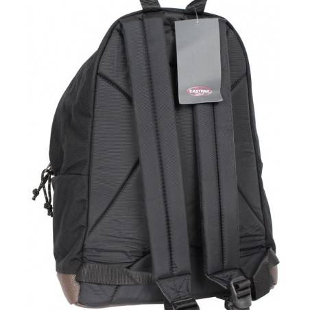 Sac à dos Eastpak EK811 noir fond cuir Wyoming 008 black  EASTPAK - 2