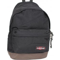 Sac à dos Eastpak EK811 noir fond cuir Wyoming 008 black  EASTPAK - 1