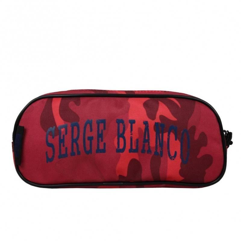 Grande trousse Serge Blanco toile doubles faces PRE42008 trousse 2 compartiments style militaire SERGE BLANCO - 1
