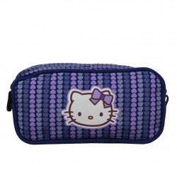 Trousse Chipie VICTIRIAN demi-ronde et strass trousse simple compartiment HELLO KITTY - 1