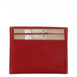 Porte cartes cuir plat Fourès Paula RFID Fabrication France FOURÈS - 1
