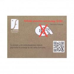 Porte cartes cuir plat Fourès Paula RFID Fabrication France FOURÈS - 6