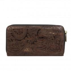 Portefeuille monnaie zip motif cachemire Lili Petrol PA35 LILI PETROL  - 2