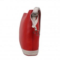 Sac bandoulière cuir Patrick Blanc bicolore 105061 seau PATRICK BLANC - 3