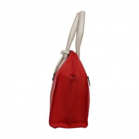 Sac à main cuir Patrick Blanc trapèze bicolore 105059 PATRICK BLANC - 2