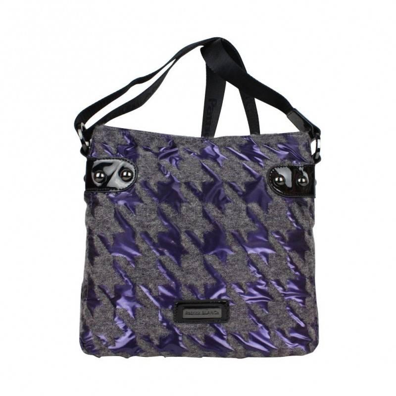 Sac bandoulière Patrick Blanc 508024 motif violet PATRICK BLANC - 1