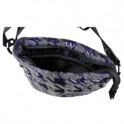 Sac bandoulière Patrick Blanc 508024 motif violet PATRICK BLANC - 3