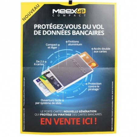 Porte cartes 4 rigide sécurité MeexUp Fabrication France