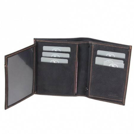 Petit portefeuille cuir fabrication France 9658.2 2 volets FRANDI - 10