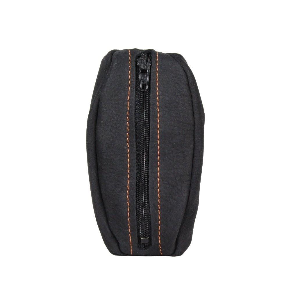 Porte monnaie cuir grain fabrication France 9680.6 2 poches FRANDI - 1