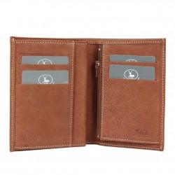 Petit portefeuille fabrication Française cuir 9646.6 Nouvelty 3 volets FRANDI - 2
