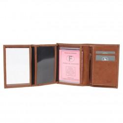 Petit portefeuille fabrication Française cuir 9646.6 Nouvelty 3 volets FRANDI - 3