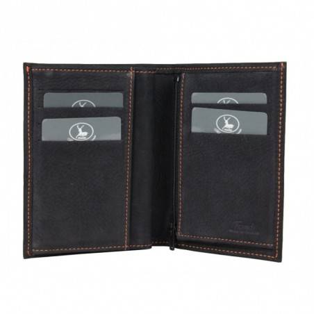 Petit portefeuille cuir fabrication France 9646.6 3 volets FRANDI - 10