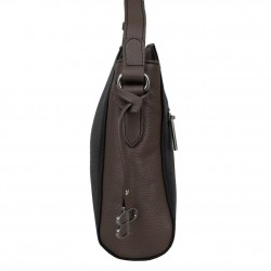 Sac bandoulière cuir Patrick Blanc bicolore 105065 PATRICK BLANC - 10