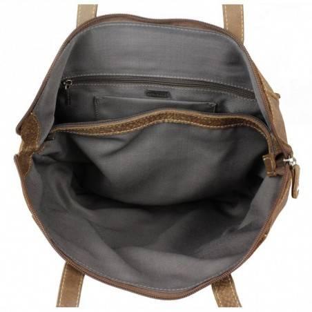 Sac épaule trapèze cuir naturel Patrick Blanc Tribe PATRICK BLANC - 2