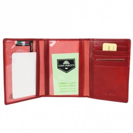 Petit portefeuille porte monnaie et porte cartes cuir vintage Tony Perotti Tony PEROTTI - 6