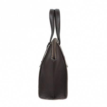 Sac à main cuir Patrick Blanc trapèze bicolore 105069 PATRICK BLANC - 2