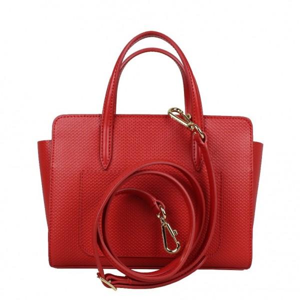 0938afcfc3 Mini sac à main Lacoste refente cuir rigide NFCE XS CHANTACO ...
