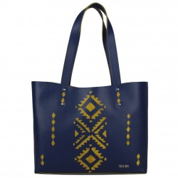 Sac cuir Texier motif ethnique 21004i fabrication France TEXIER - 1
