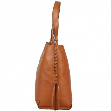 Sac cabas cuir souple Texier fabrication France 23716 TEXIER - 2