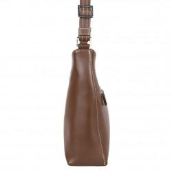 Neuf avec petits défauts sac porté épaule banane en cuir Texier fabrication Française 3240 TEXIER - 2
