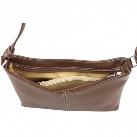 Neuf avec petits défauts sac porté épaule banane en cuir Texier fabrication Française 3240 TEXIER - 3