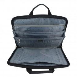 Porte documents ultra plat portfolio tissu et effet cuir Elite Nouvelty 6116  ELITE DESIGN - 6