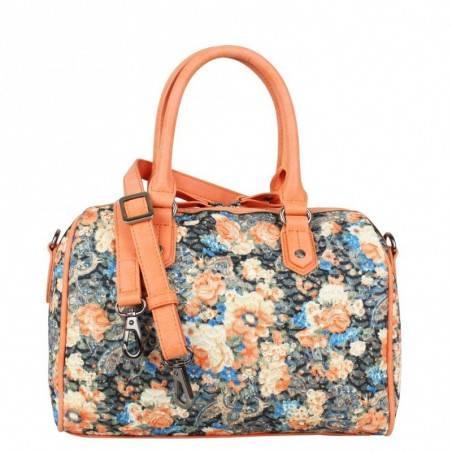 Sac bowling Patrick Blanc motif floral et brillant 510047 PATRICK BLANC - 4